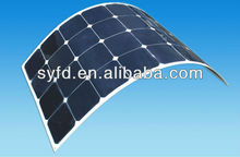 High efficiency semi flexible solar panel 200w 24V(TUV,IEC,ROHS,CE,MCS)