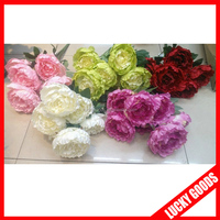 beautiful hot sale artificial big peony flower in solid color