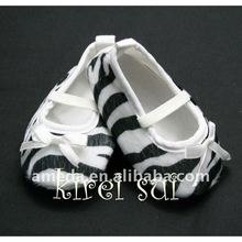 Baby Infant Girls Zebra Print Crib Shoes NB-18M GS16