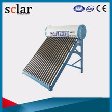 Buy best selling color steel 250L portable compact solar water heater, solar water heater system