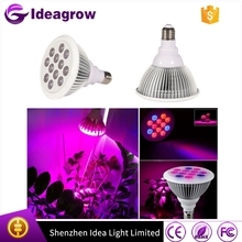 Hot selling full spectrum E27 led grow light indoor 12w 24w 36w led grow light e27 bulb growing plant for stretch herb veg bloom