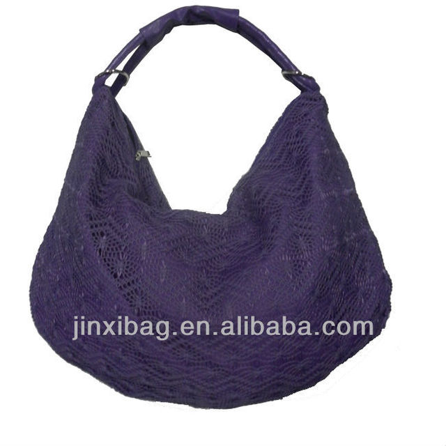 Fashion Purple Crochet bag women handbags