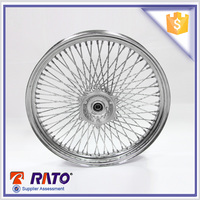 Hot 2.5-19 72 hole motorcycle chrome metal wheels rim sale