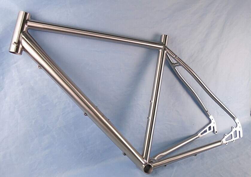 700c cyclocross titanium bicycle frame with inboard disc brake WT-C52