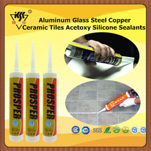 Aluminum Glass Steel Copper Ceramic Tiles Acetoxy Silicone Sealants