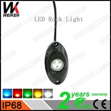 2016 Hot china factory WEIKEN IP68 RGB waterproof material Super Bright led working light led rock light