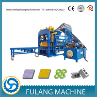 Hydraulic full automatic fly ash hollow brick block making machine production line QTF4-15C