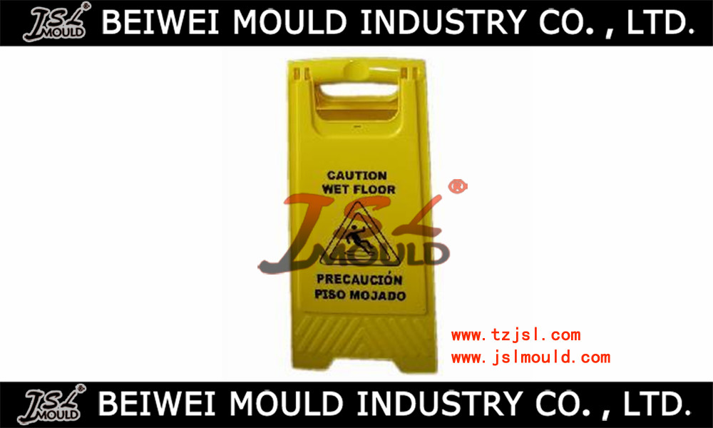 Injection plastic warning sign board mould