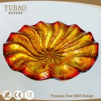 China Supplier Manufacture New Products Decorative Glass Charger Plate