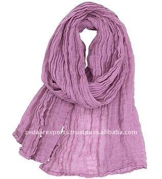 Plain Crinkle cotton scarf