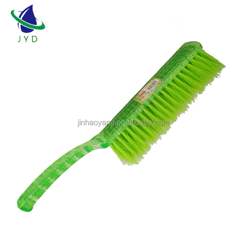 JHY cleaning products Classic plastic bed dust brush cleaning product with handle for bed cleaning