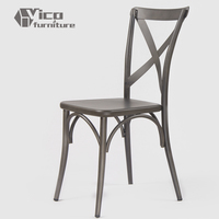 manufacturer best price wholesale x back famous design retro metal dining chair