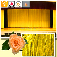 100% polyester fire retardant theater curtain fabric