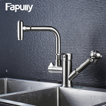 Fapully Brass Stainless steel cupc kran,pull out kitchen faucet