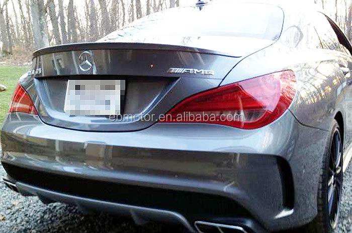 UNPAINTED A Boot Trunk Spoiler Fit For C117 <strong>W117</strong> CLA CLA200 CLA180 CLA45AMG CLA200 CLA250 2014UP M006F