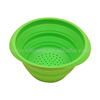 Superior quality collapsible silicone washing up bowl for camping