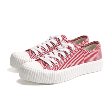 Rubber lace up women's canvas <strong>shoes</strong>