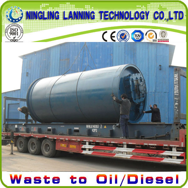 2013 High Profit Continuous Tire Pyrolysis Machine