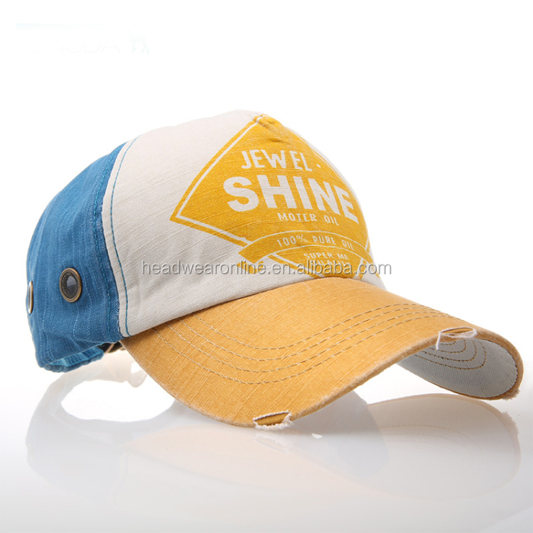Custom High Quality Embroidery stone washed baseball cap and hat,Embroidered washed sports