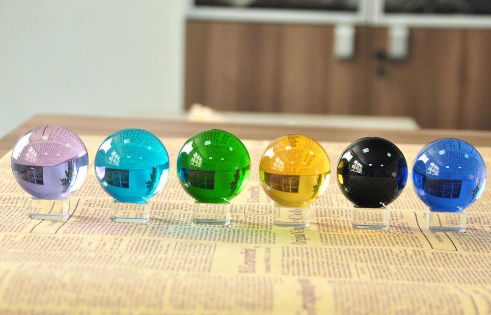 Vintage glass balls mm eyes emerald round no hole
