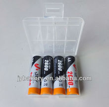 NiMH Rechargeable Batteries, 1 plastic box 4xAA, aa 2600mAH 1.2v