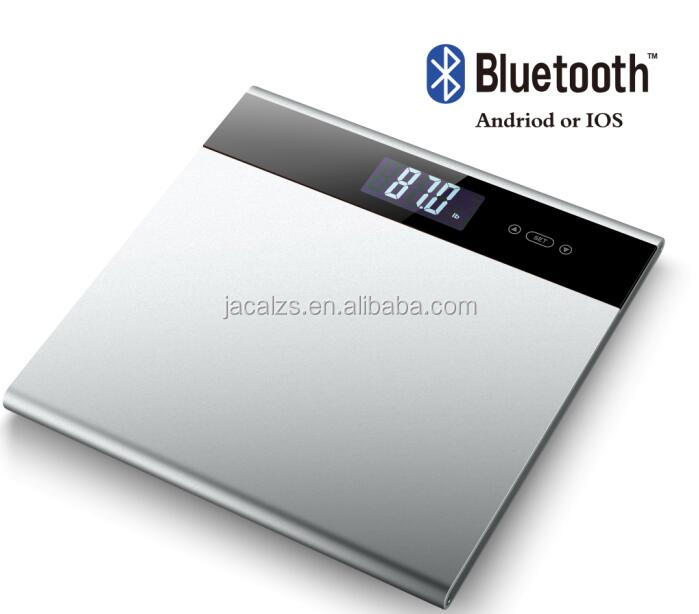 Full aluminium 2017 Amazon Hot Sell Large Display Body Fat Monitor Bluetooth Digital Bathroom Weighing Household Scale