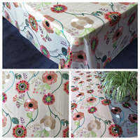 Eco-Friend Disposable Flower Vinyl Table Cloth Plastic Tablecloth Rolls PVC Table Cover