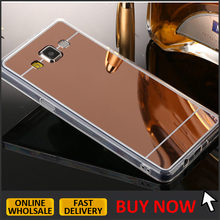 phone case for samsung galaxy j3 2016,Luxury 4 Colors soft Mirror electroplate TPU GEL Skin back Cover For Samsung J310 5.0''