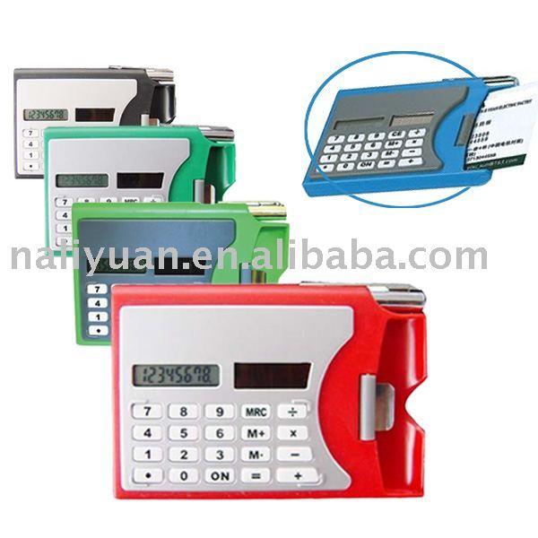 colorful Cardholder Calculator with 8 digit LCD display screen