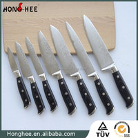 Superb Sharp Cutlery Set, 67 layers Clad Damascus Steel, Stainless Steel Rivets Ergonomic Handle