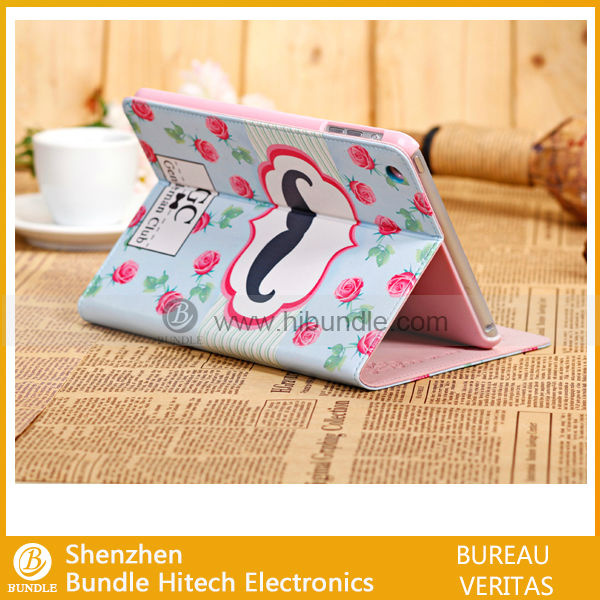 3D Mustache stand Case for iPad Mini new product