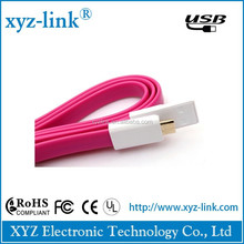 High speed data and charging flat usb cable 2.0 , micro magnet USB cable for mobile phone free sample