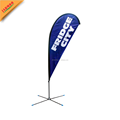 portable beach flag cheap with pole and base and nylon bag
