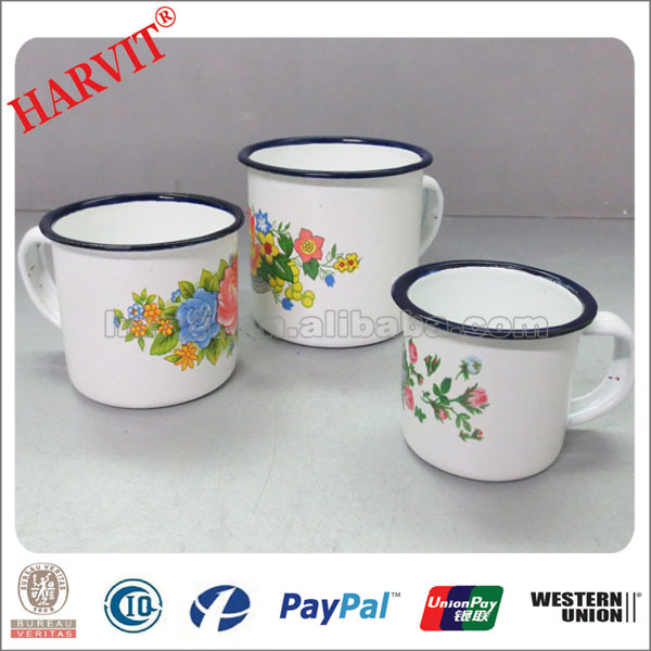 Made In China Enamel Mug Unbreakable Large Tea cups Wholesale Personalized Enamel Coffee Mug