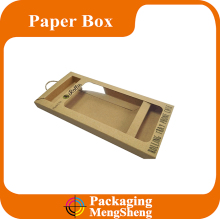 custom printed software mobile phone accessories kraft packaging box with clear window