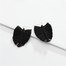 Macrame Feather Cotton Tassel <strong>Earrings</strong> Bridesmaid Statement Leaf Fringe <strong>Earrings</strong>