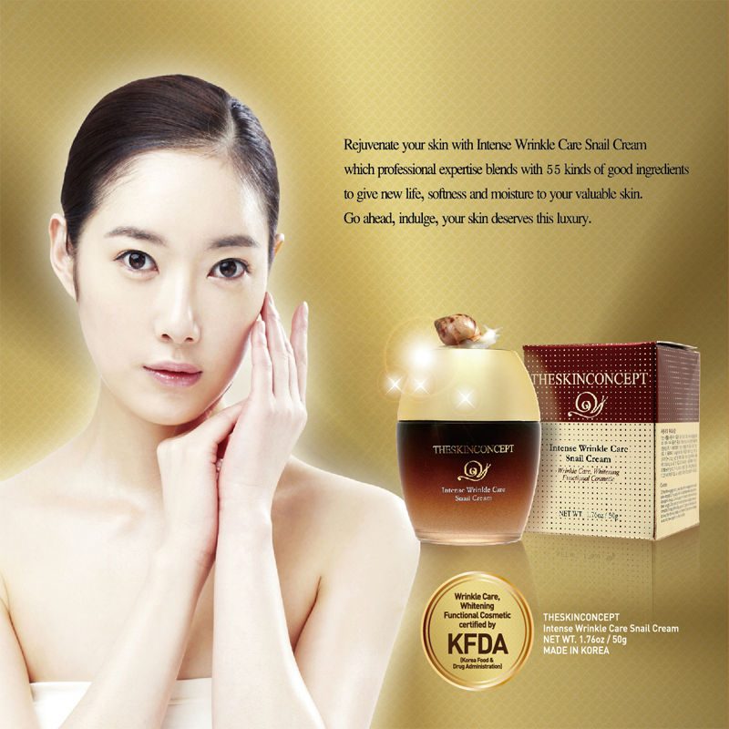 SKIN CONCEPT Intense Wrinkle Care Snail Cream 6 in 1 Anti-ageing Solution Korean Cosmetics