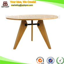 (SP-RT456) Antique natural ash solid wood slab round dining table