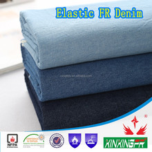 cotton fire retardant 98%cotton 2% spandex denim fabric