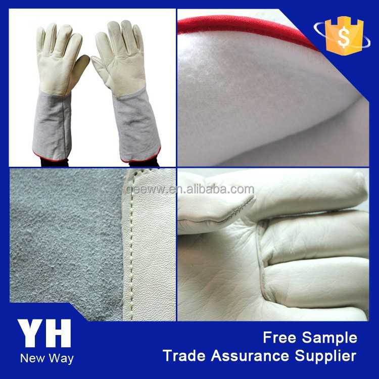 2015 LN2 cowhide grain leather Cryogenic <strong>Gloves</strong> low temperature resistant <strong>gloves</strong>
