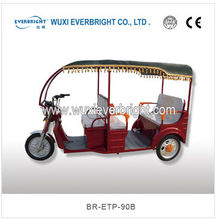 ECO battery operated rickshaw for passenger,Tuk tuk taxi tricycle with high quality, Bajaj passenger three wheels motorcycle