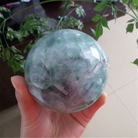 Home decor crystal balls factory rainbow fluorite spheres wholesale