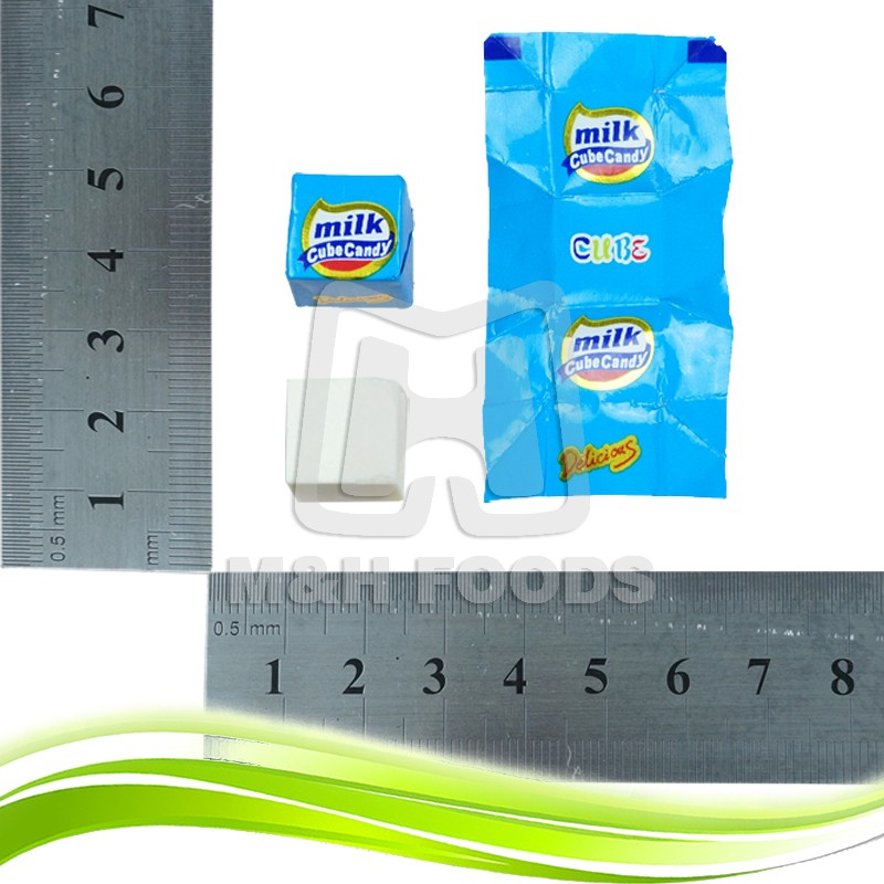 Cube Milk Cheese Candy Pressed Candy with Zipper Bag