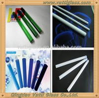 unbreakable pyrex borosilicate colored glass rod