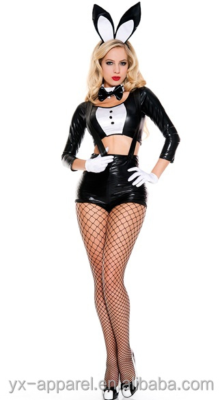 animal bunny cosplay sexy movie costume with women
