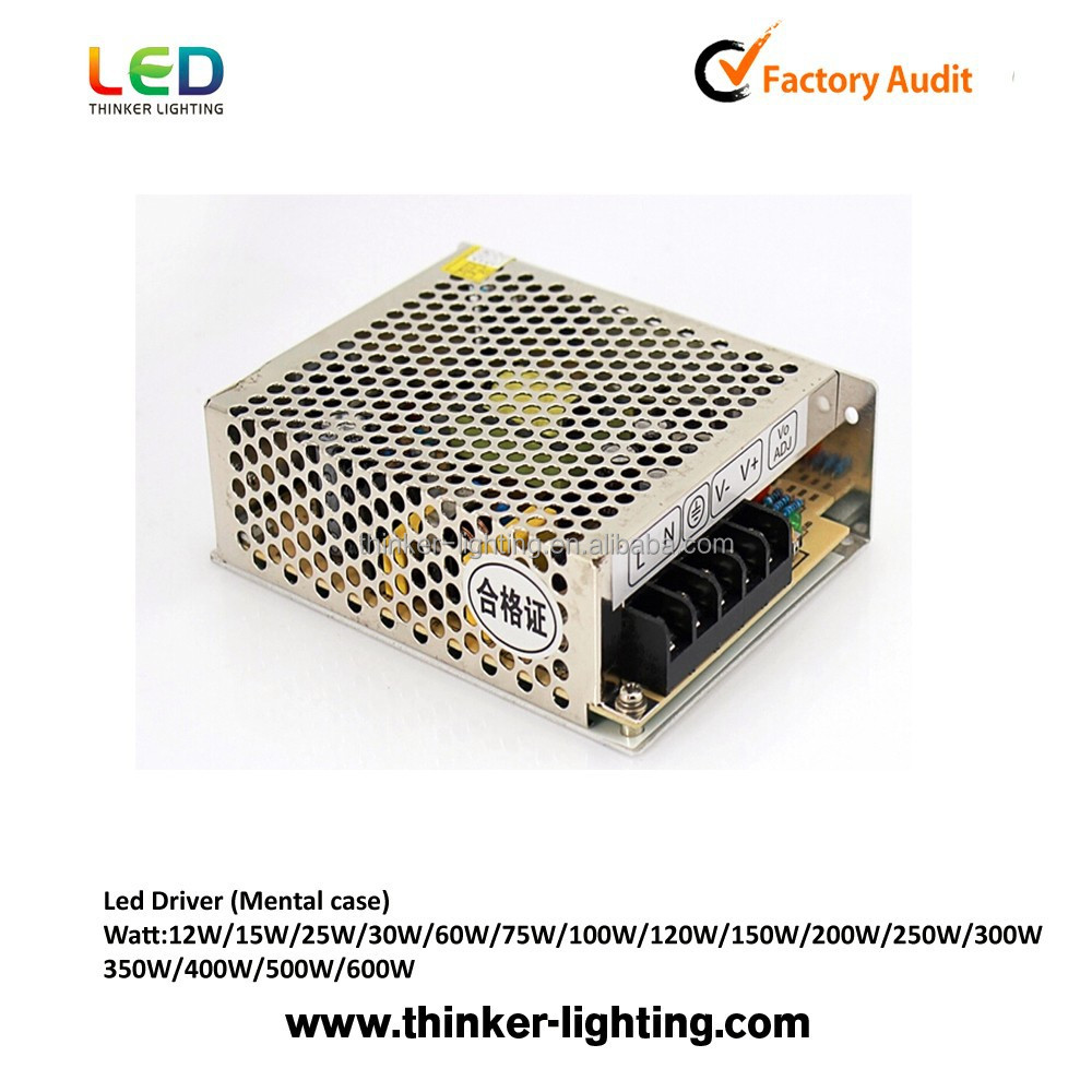 Led light power supply 15w non-waterproof metal case housing