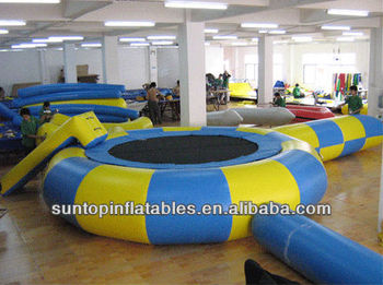 hot sales customized strongly recommended inflatable water trampoline for adult and kids