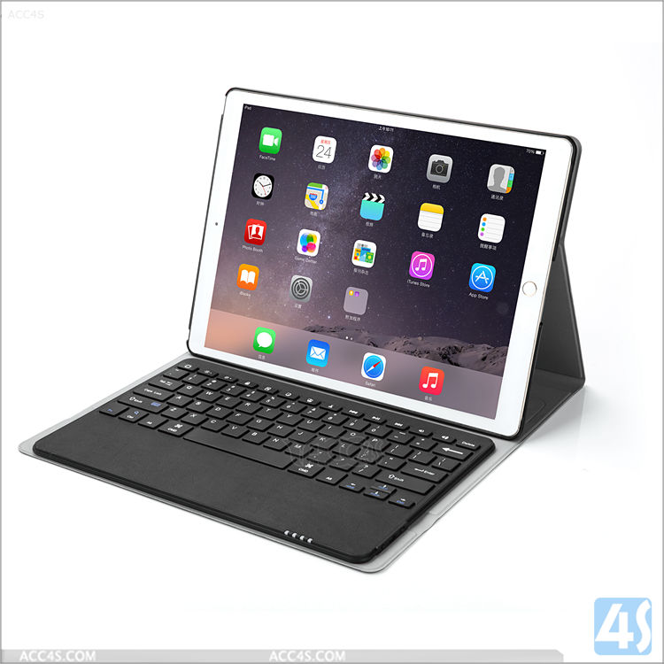 For Apple iPad Pro 12.9 hot selling wireless keyboard ,Leather Case Bluetooth Keyboard for Apple iPad Pro 12.9