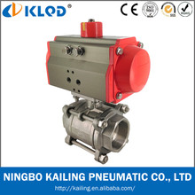 Cf8m 1000 wog pneumatic ball valve for water treatment Model Q611F-16P