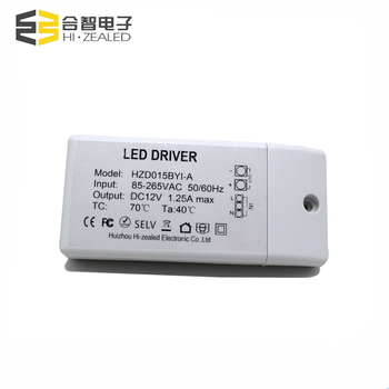 small plastic case 1250ma 15w 12v dc transformer constant voltage led driver